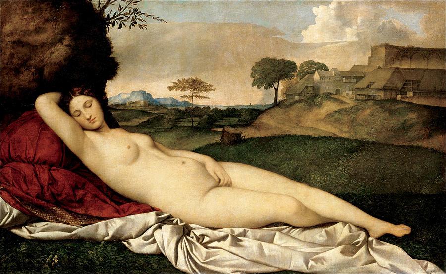 Giorgione Painting - Sleeping Venus by Giorgione