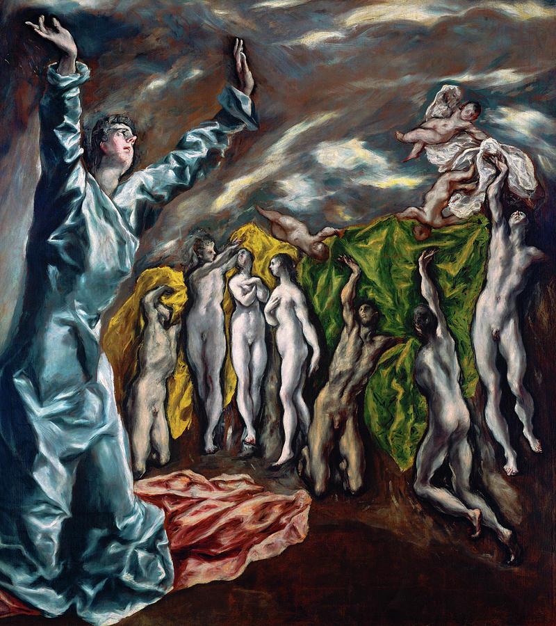 El Greco Painting - The Vision Of Saint John  by El Greco