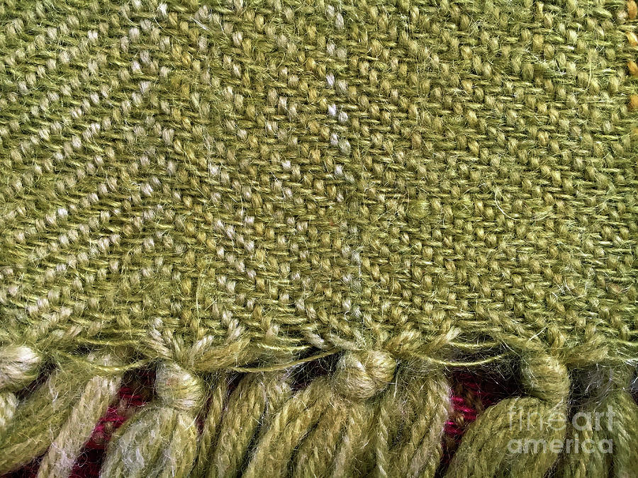 Abstract Photograph - Wool Textile Background by Tom Gowanlock