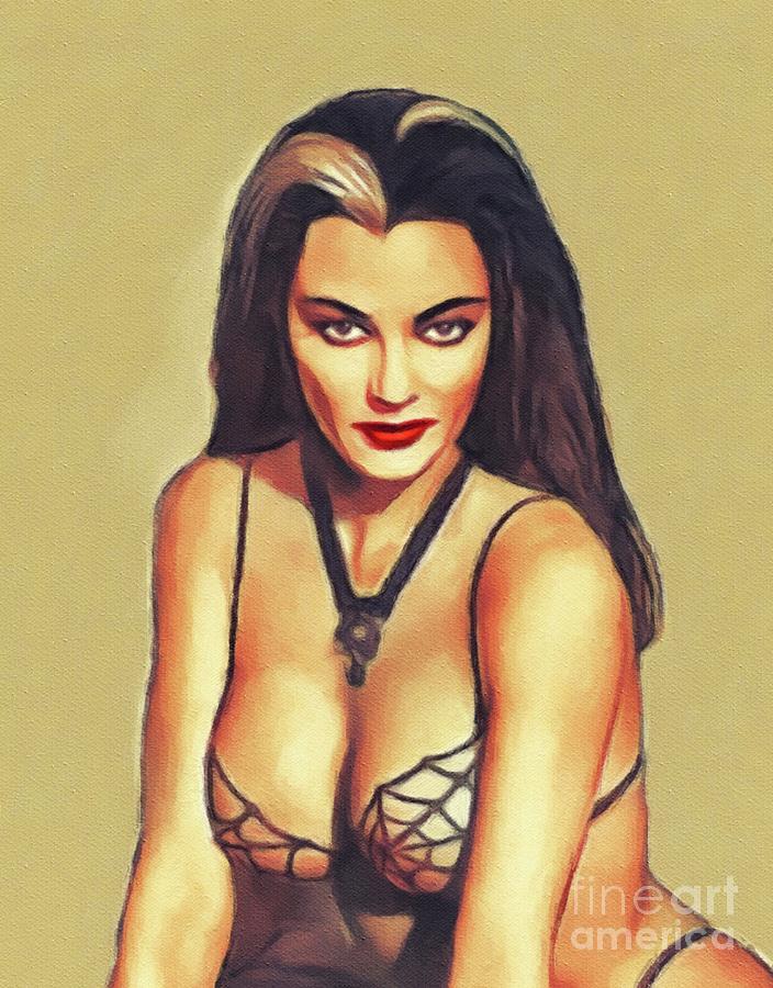 Yvonne De Carlo, Vintage Actress Painting