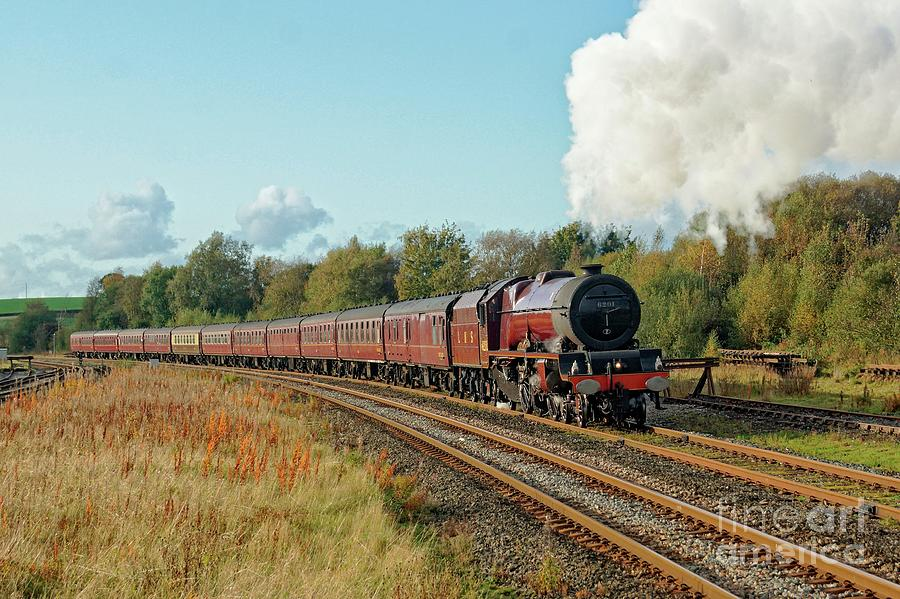 6201 Princess Elizabeth steam locomotive. by David Birchall