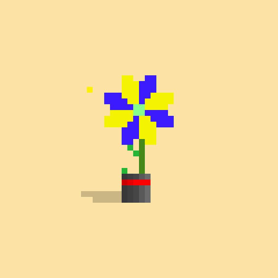 #636 Chanelle - Pixel.flowers Digital Art