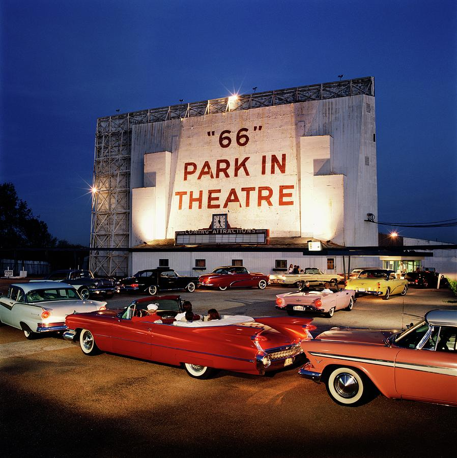 66 Park-in Theater Photograph by Car Culture
