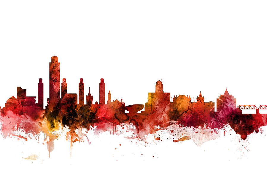 Albany New York Skyline by Michael Tompsett