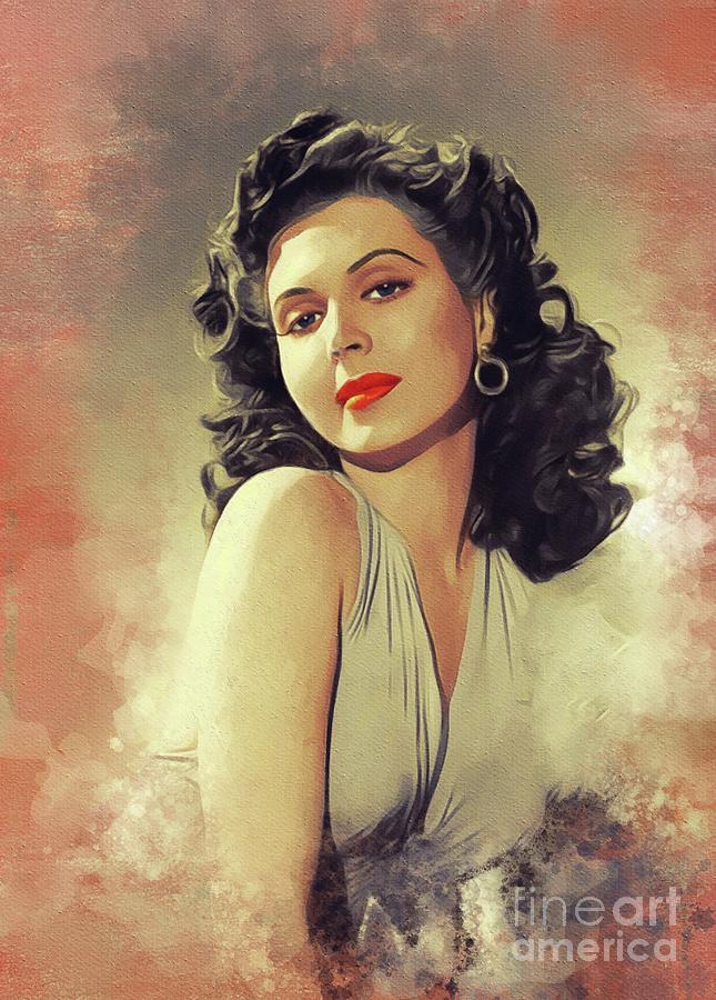 Ann Miller, Vintage Movie Star Painting