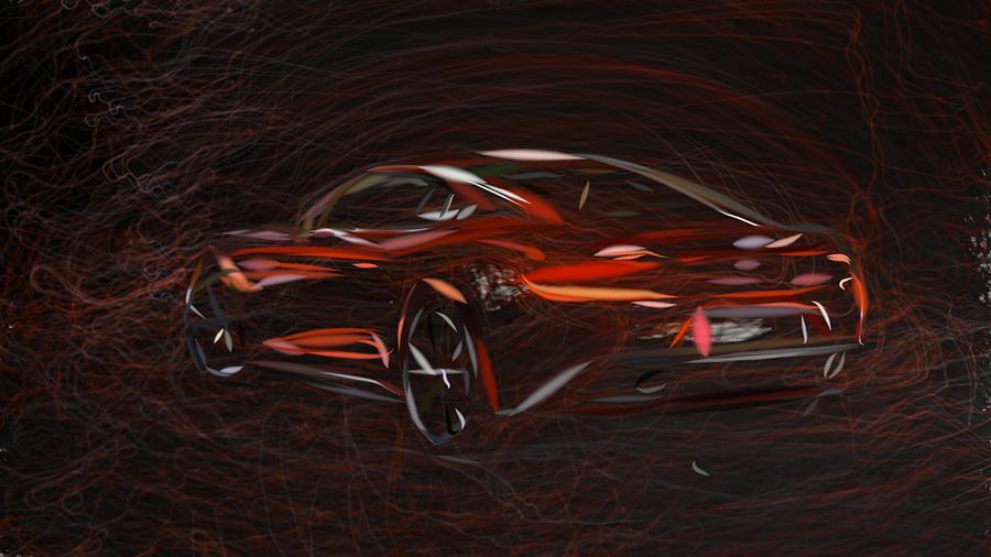 Aston Martin Am 310 Vanquish Draw Digital Art