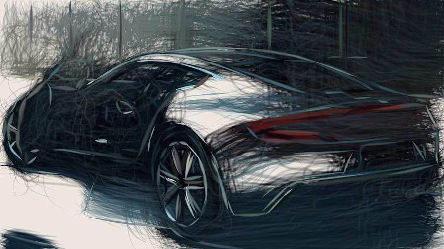 Aston Martin One 77 Draw Digital Art