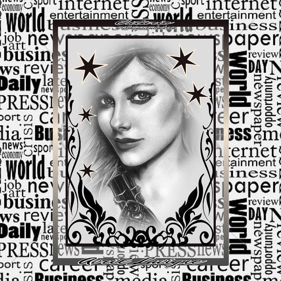Avril Lavigne Digital Art - Avril Lavigne by Keiko Createur