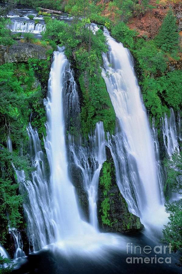 burney falls mcarthur burney state park california by Dave Welling