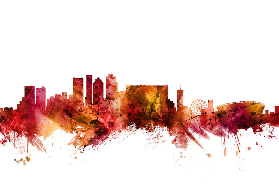 Cape Town Digital Art - Cape Town South Africa Skyline by Michael Tompsett