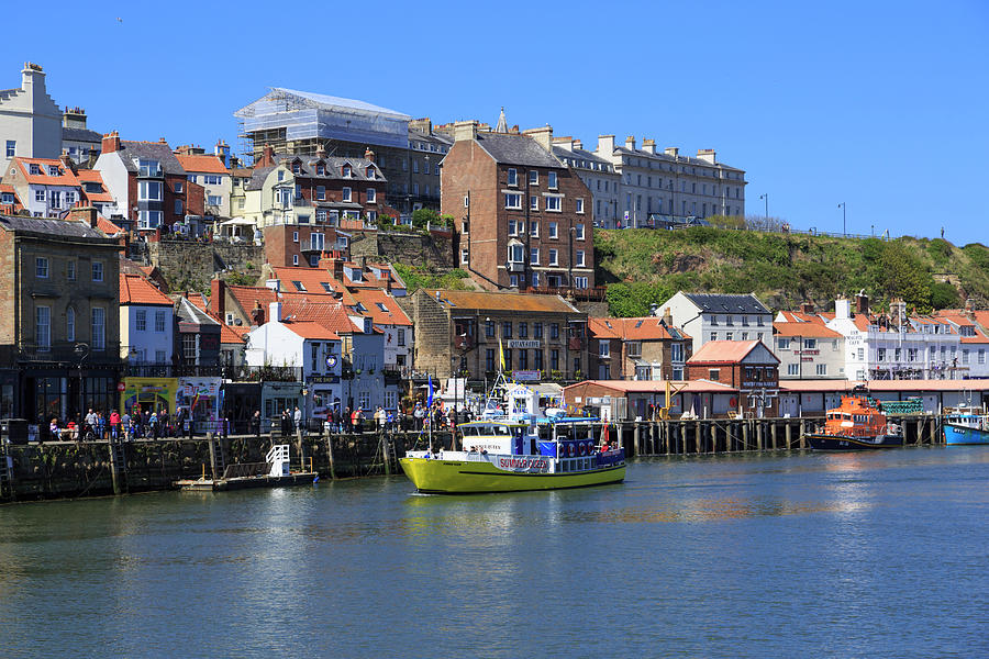 Blue Sky Photograph - England, North Yorkshire, Whitby by Emily Wilson