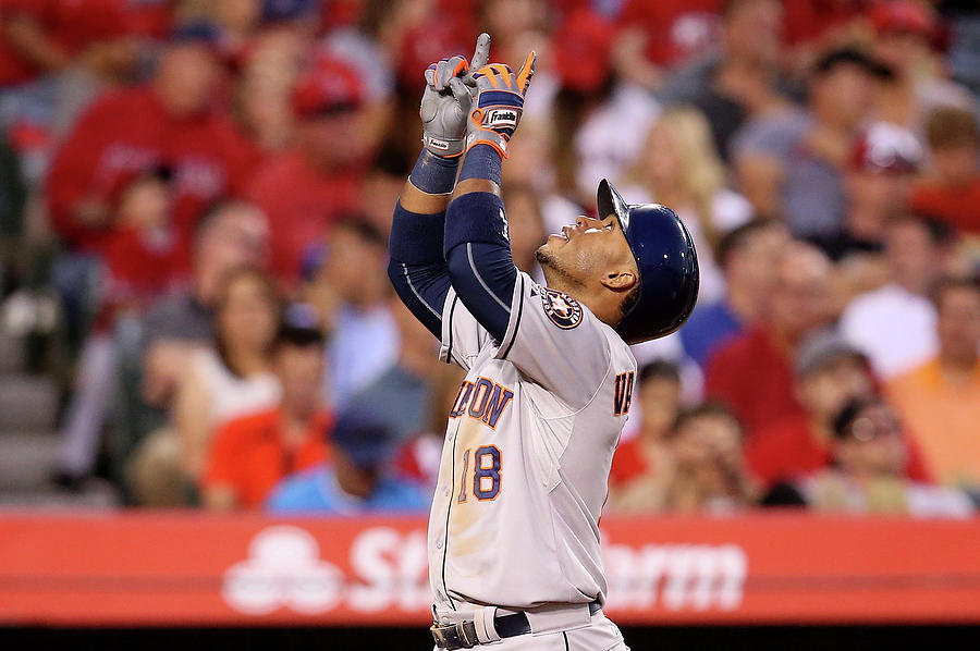 Houston Astros V Los Angeles Angels Of 7 Photograph by Stephen Dunn