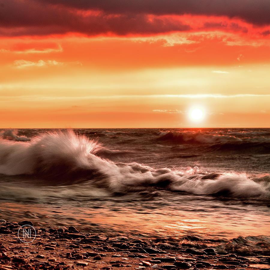 Lake Photograph - Lake Erie Waves by Dave Niedbala