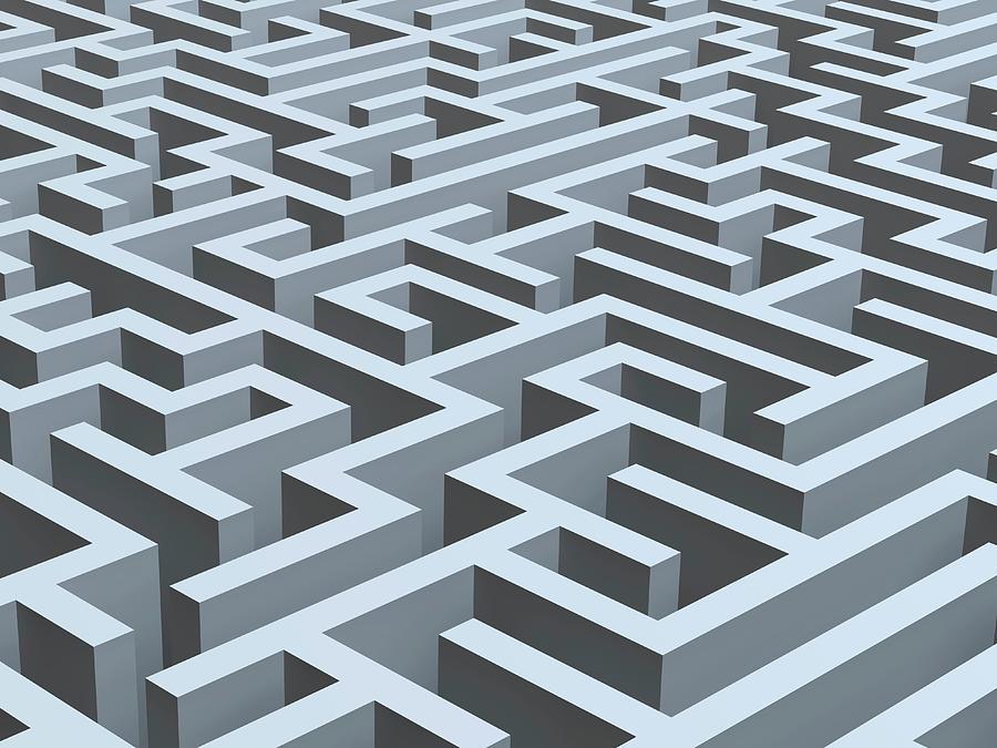 Maze, Artwork Digital Art by Pasieka