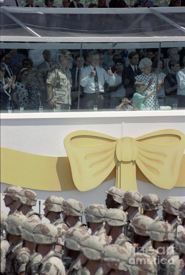 Operation Desert Storm Victory Parade Photograph by Bettmann