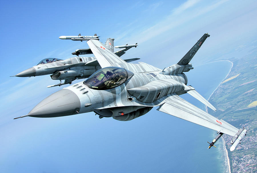 Polish Air Force F-16 Aircraft by Giovanni Colla
