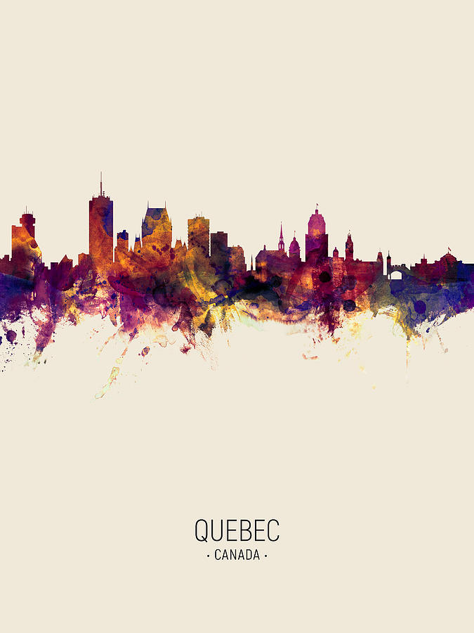 Quebec Canada Skyline by Michael Tompsett