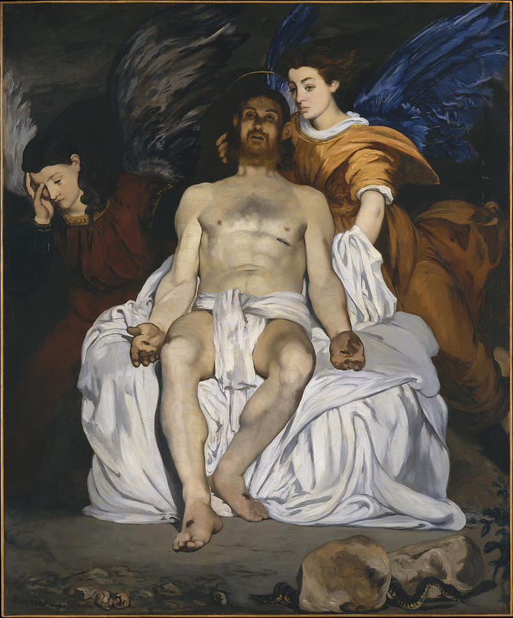 Edouard Manet Painting - The Dead Christ With Angels  by Edouard Manet