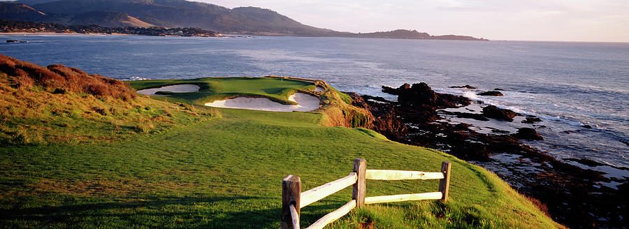 Horizontal Photograph - 7th Hole At Pebble Beach Golf Links by Panoramic Images