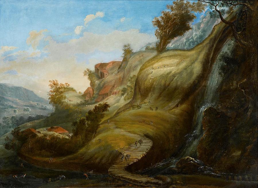 Flemish School Painting - A Mimetic Landscape by MotionAge Designs