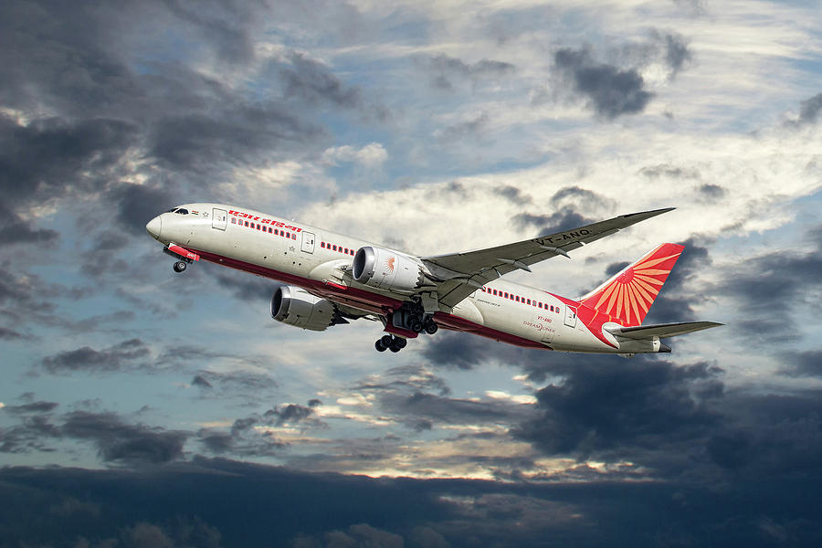 Air India Mixed Media - Air India Boeing 787-8 Dreamliner by Smart Aviation