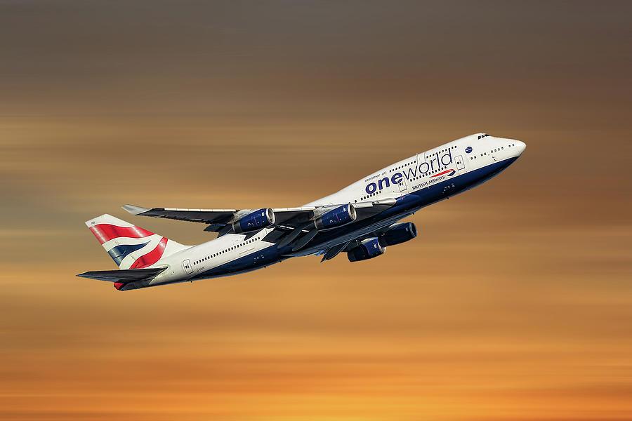 British Mixed Media - British Airways Boeing 747-436 by Smart Aviation