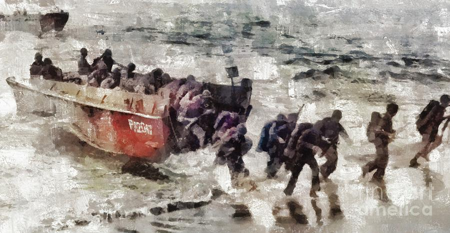 World Painting - D Day Landings, Wwii by Mary Bassett