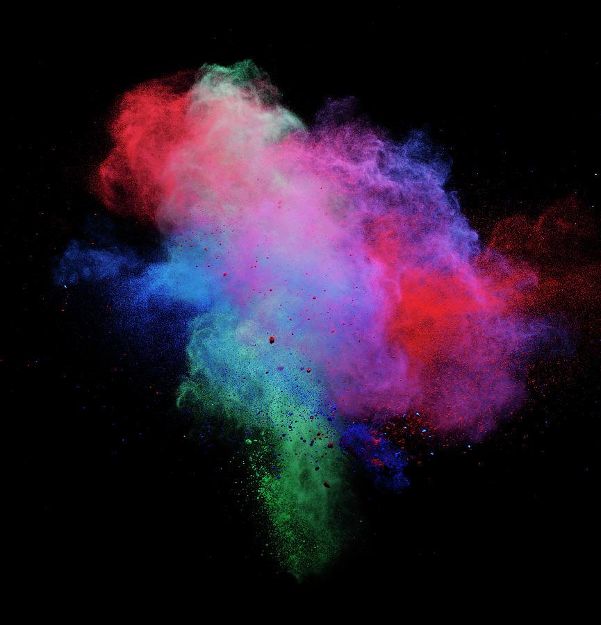 Explosion Of Colored Powder Photograph by Henrik Sorensen