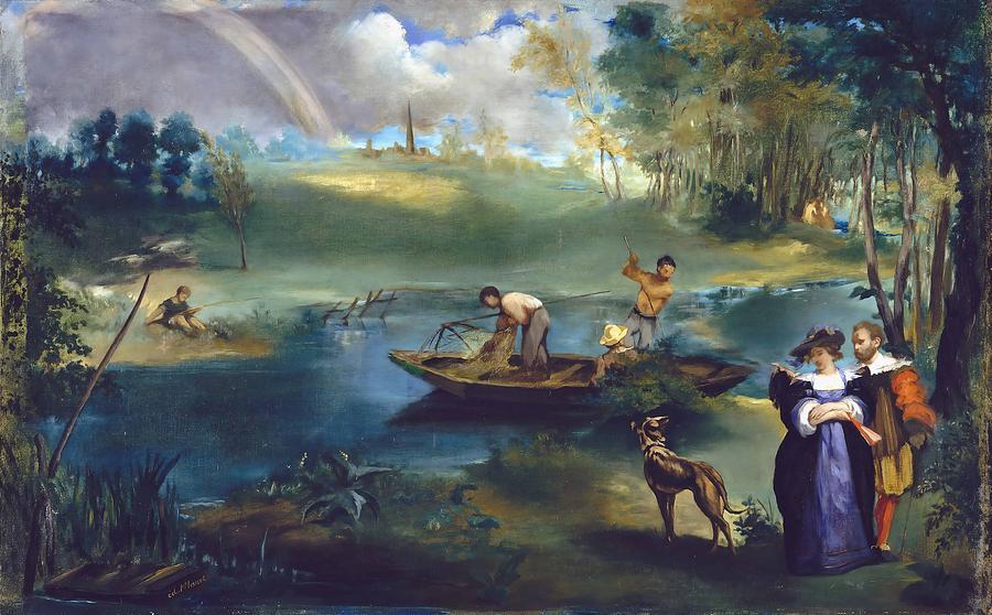 Edouard Manet Painting - Fishing  by Edouard Manet