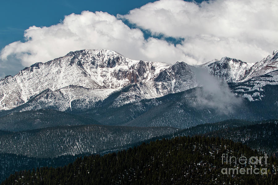 Fresh Snow on Pikes Peak by Steve Krull