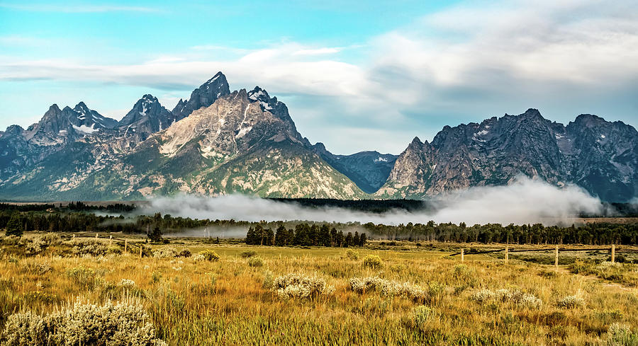 Grand Teton mountains scenic view  by ALEX GRICHENKO