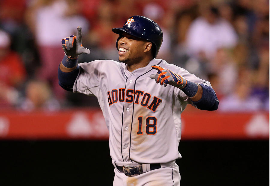 Houston Astros V Los Angeles Angels Of Photograph by Stephen Dunn