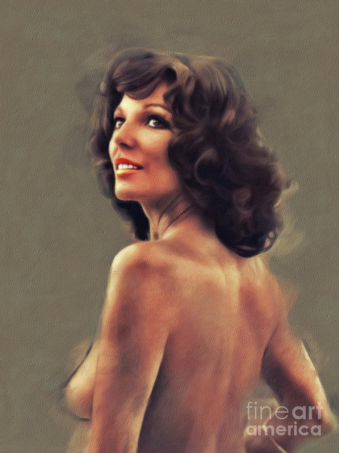 Joan Painting - Joan Collins, Movie Star by Esoterica Art Agency