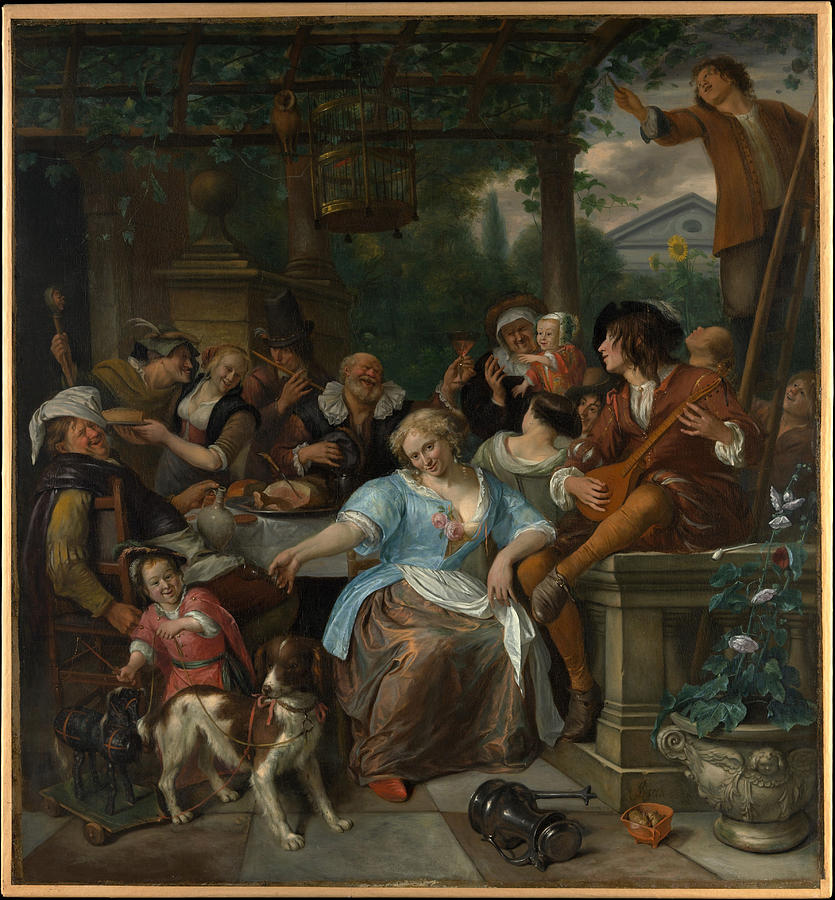 Merry Company on a Terrace by Jan Steen