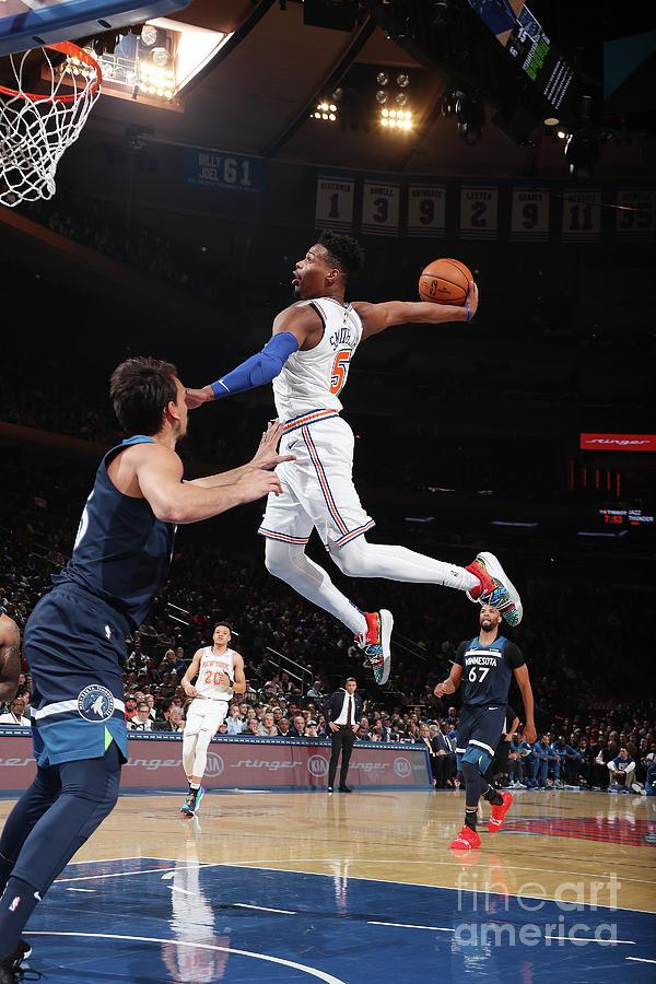 Minnesota Timberwolves V New York Knicks Photograph by Nathaniel S. Butler