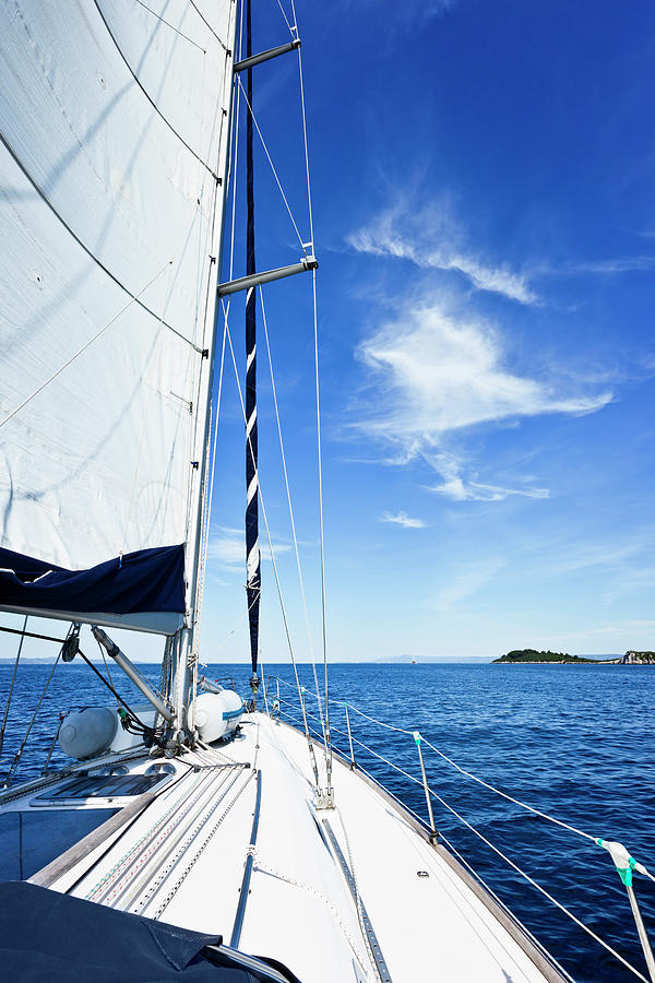 Sailing With Sailboat Photograph by Mbbirdy