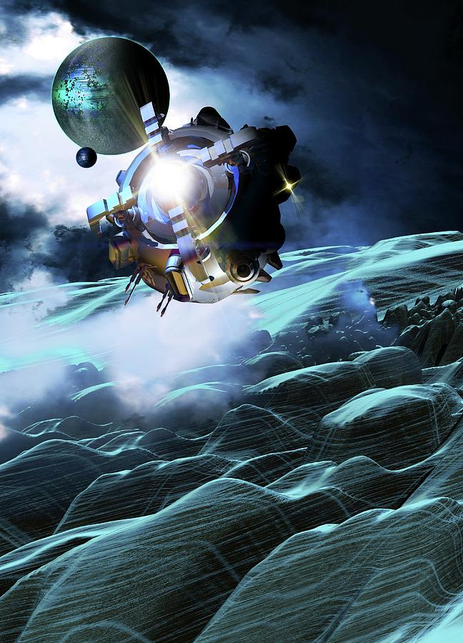 Space Exploration, Artwork Digital Art by Victor Habbick Visions