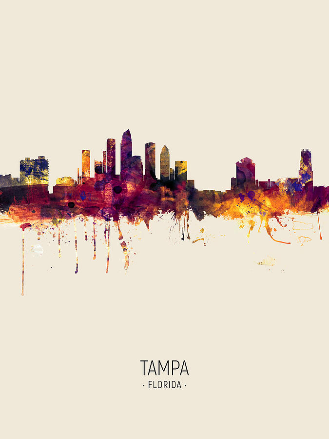 Tampa Florida Skyline by Michael Tompsett