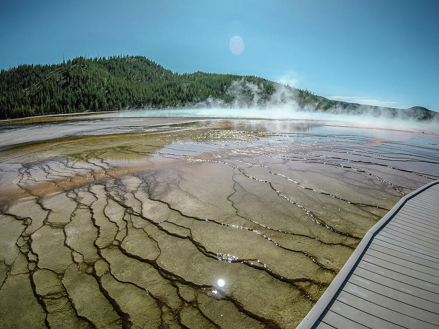 The World Famous Grand Prismatic Spring in Yellowstone National  by ALEX GRICHENKO