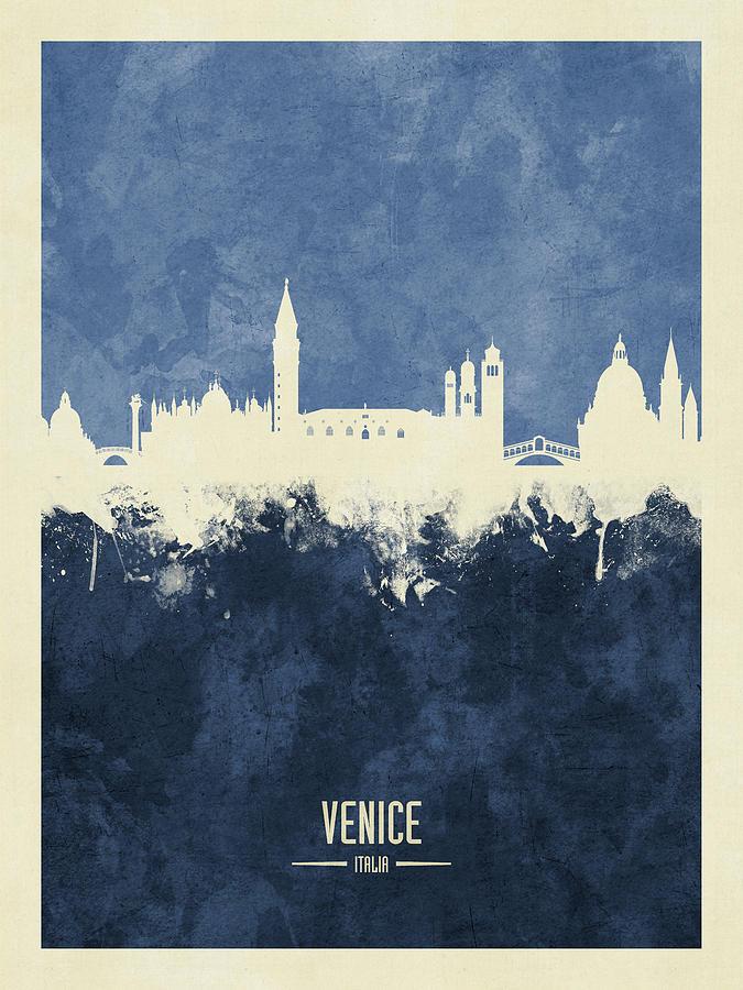 Venice Digital Art - Venice Italy Skyline by Michael Tompsett