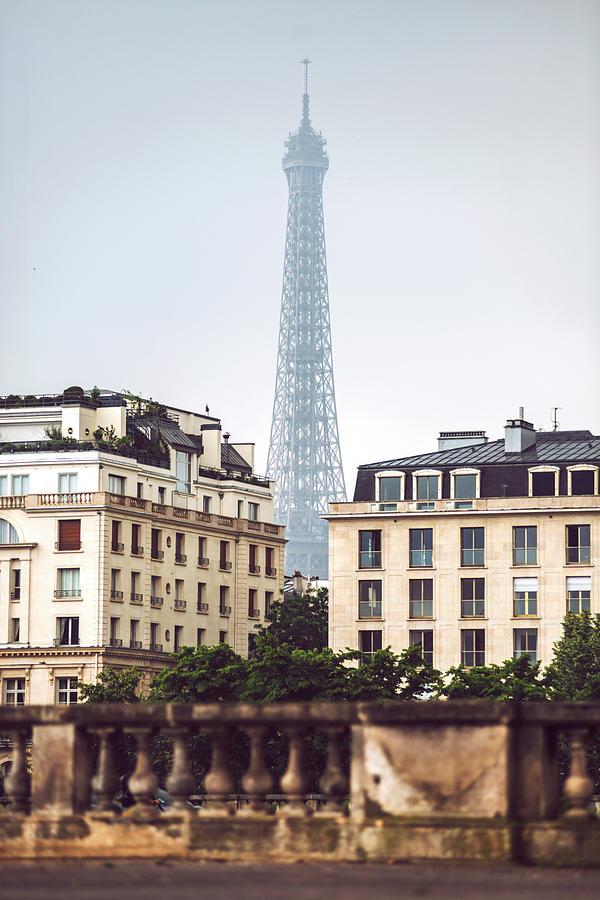 View of Eiffel Tower in Paris, France by Eduardo Huelin