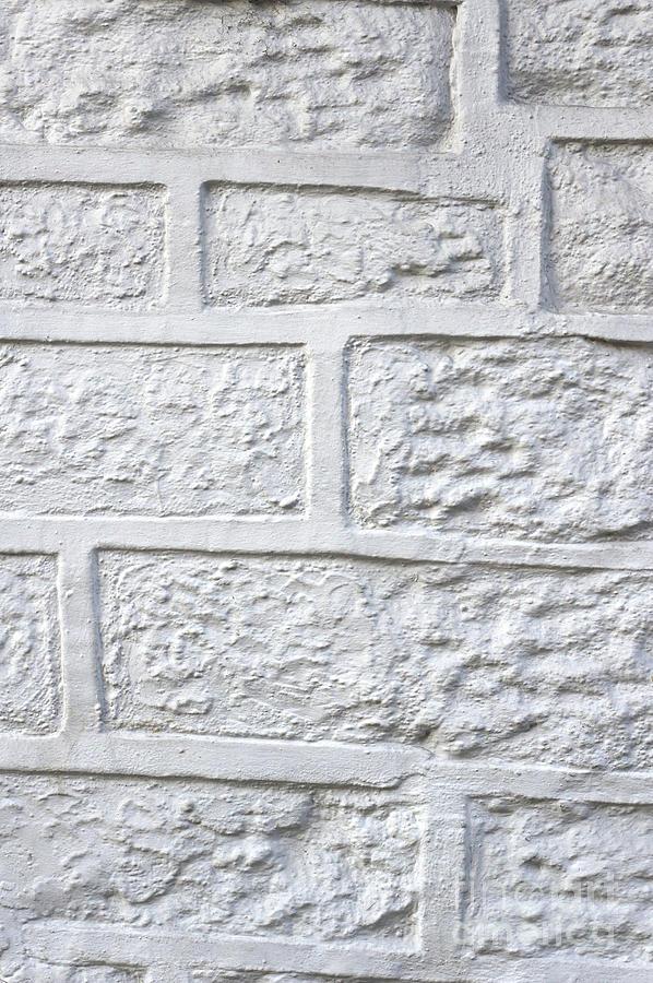 Abandoned Photograph - White Brick Wall by Tom Gowanlock