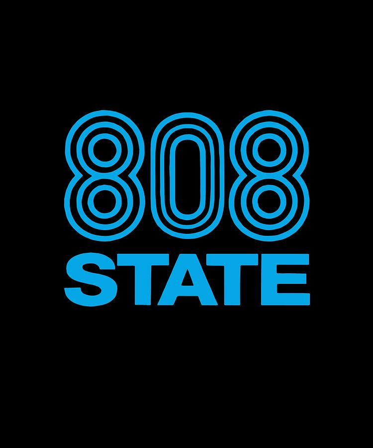 808 State Dj Club Music Dance Rave Retro Dj by Cooper Tyson