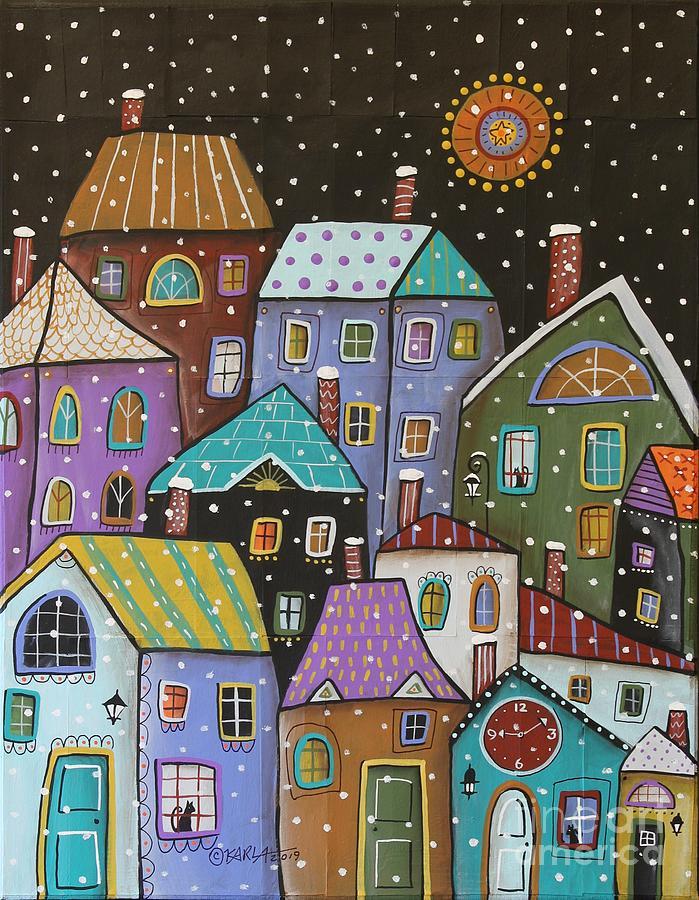 Karla Gerard Painting - 9 10 Pm by Karla Gerard