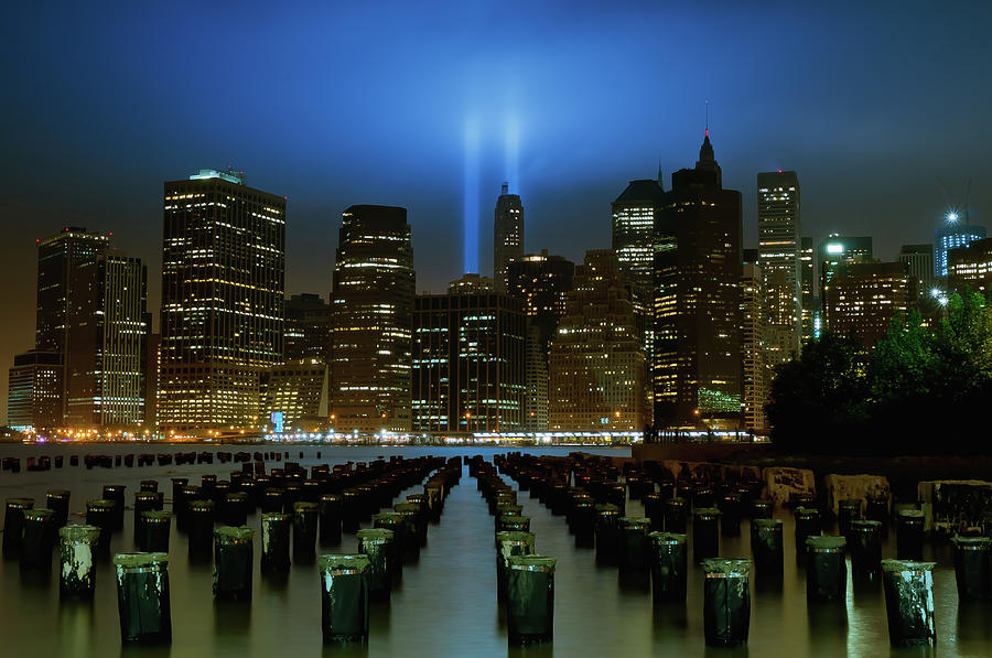 9-11-11 Tribute In Lights Photograph by Tom Reese, Www.wowography.com