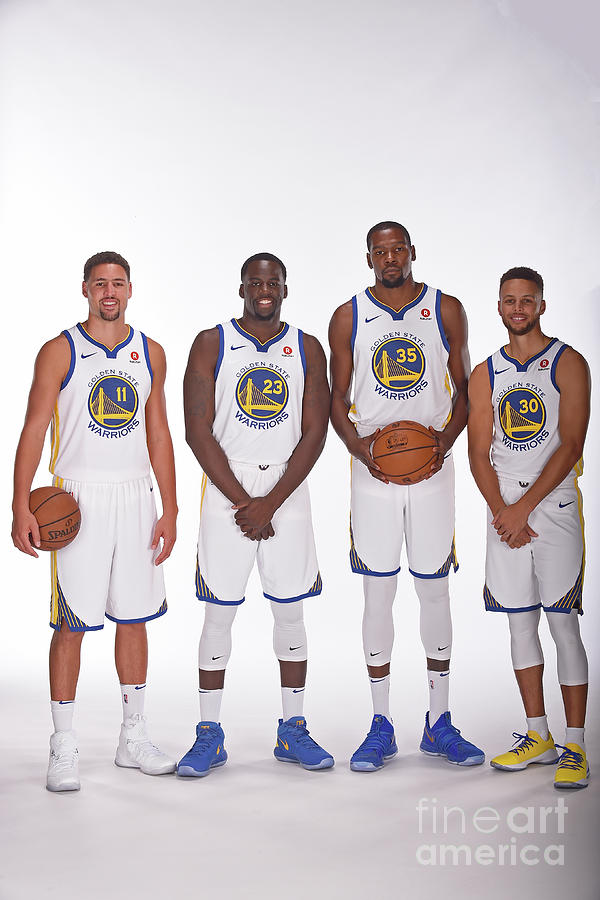 2017-18 Golden State Warriors Media Day Photograph by Noah Graham