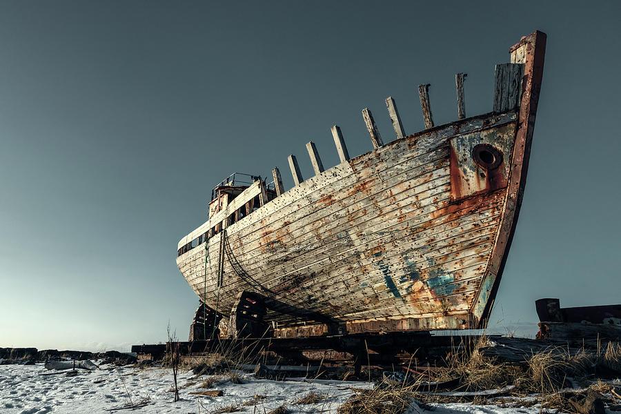Shipwreck Photograph - Akranes - Iceland by Joana Kruse