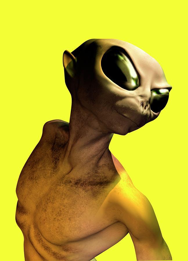 Alien, Artwork Digital Art by Victor Habbick Visions