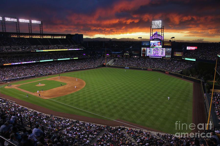 Atlanta Braves V Colorado Rockies Photograph by Doug Pensinger