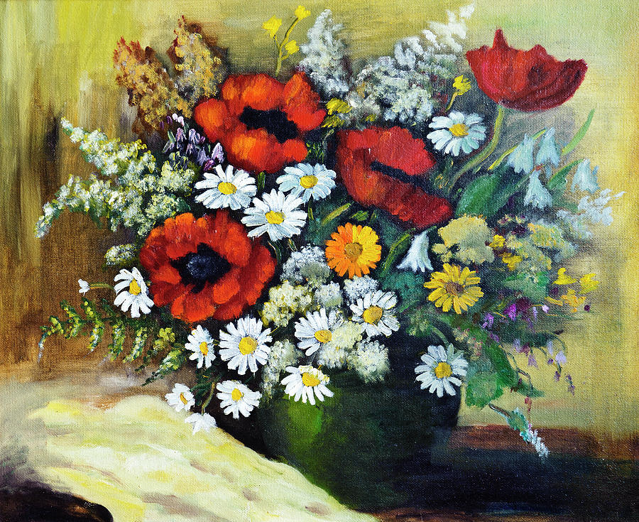 Composition Of Flowers Digital Art by Balticboy